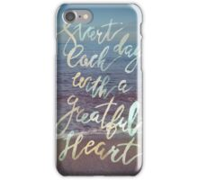Inspirational lettering ocean theme iPhone Case/Skin