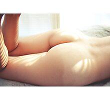 Cute Bum - erotic nude sexy girl bare natural perfect love kinky valentine romance Photographic Print