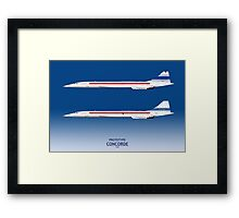 Prototype Concordes 001 and 002 Framed Print