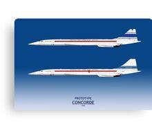 Prototype Concordes 001 and 002 Canvas Print