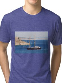 Sailing boat in Greece Tri-blend T-Shirt
