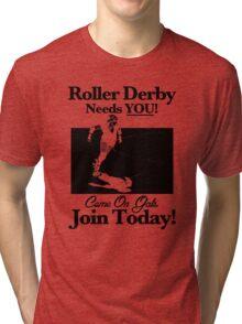 Roller Derby Recruiter Tri-blend T-Shirt
