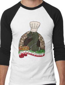 Pizza Dino Men's Baseball ¾ T-Shirt