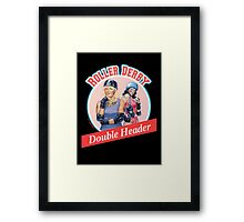 Roller Derby Double Header Framed Print
