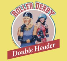 Roller Derby Double Header Kids Tee