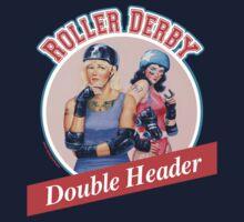 Roller Derby Double Header Kids Tee