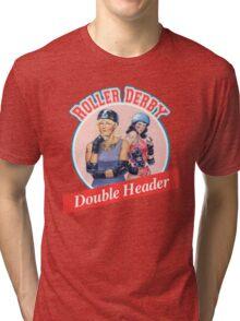 Roller Derby Double Header Tri-blend T-Shirt