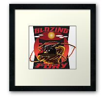 Blazing Fury Framed Print