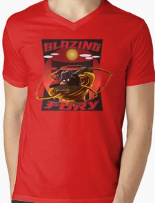 Blazing Fury Mens V-Neck T-Shirt