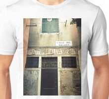"Old "" Trattoria "" in Venice Unisex T-Shirt"