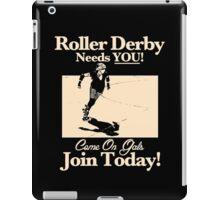 Roller Girl Recruitment Poster (Vintage Black) iPad Case/Skin