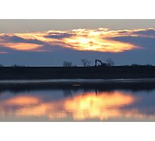 Sunrise Over The River Photographic Print