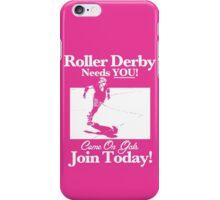 Roller Girl Recruitment Poster (Hot Pink) iPhone Case/Skin