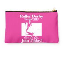 Roller Girl Recruitment Poster (Hot Pink) Studio Pouch