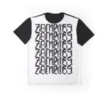 Zombies Zombies Zombies (White) Graphic T-Shirt