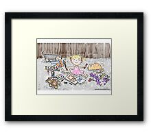 Bloomin' Artist Watercolor Illustration for Kids Framed Print