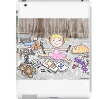 Bloomin' Artist Watercolor Illustration for Kids iPad Case/Skin