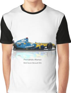 Fernando Alonso - Renault R26 - Team Spirit Graphic T-Shirt