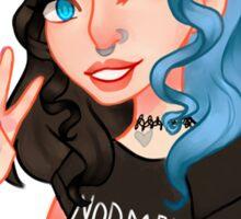 Black & Blue Kitty Sticker