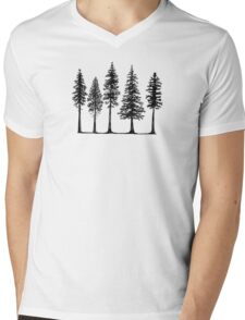 Pines Mens V-Neck T-Shirt
