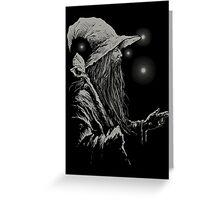 Grey Wizard Greeting Card