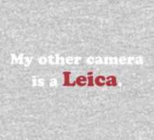 My other camera is a Leica (white) One Piece - Long Sleeve