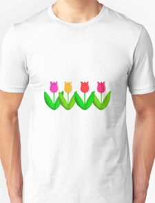 Spring Flowers Tulips in a Row T-Shirt