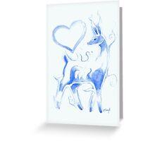 Valentine Patronus Greeting Card