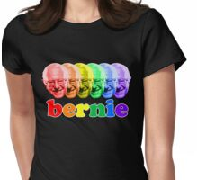 Rainbow Bernie Sanders 2016 Womens Fitted T-Shirt