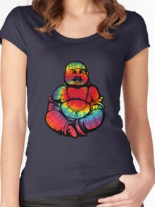 Tie-Dye Buddha 2 Women's Fitted Scoop T-Shirt
