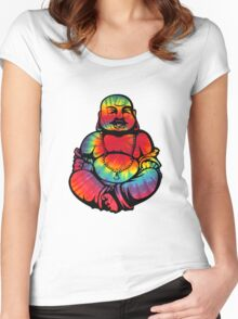 Tie-Dye Buddha 2 Women's Fitted Scoop T-Shirt