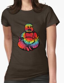 Tie-Dye Buddha 2 Womens Fitted T-Shirt