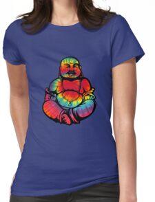 Tie-Dye Buddha 2 Womens Fitted T-Shirt