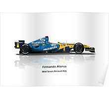 Fernando Alonso - Renault R26 Poster