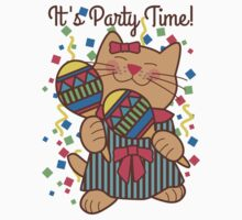 It's Party Time, maracas cat One Piece - Short Sleeve