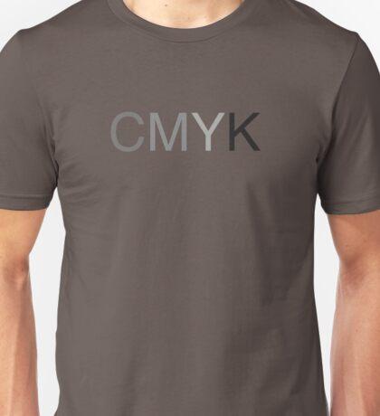 CMYK in B/W Unisex T-Shirt