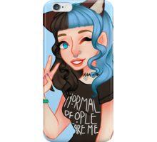 Black & Blue Kitty iPhone Case/Skin