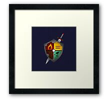 The Poke Shield Framed Print