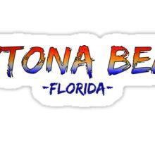 Daytona Beach Florida messy sunset words Sticker