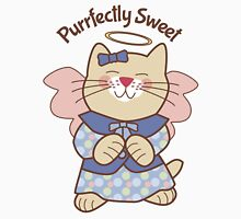Perfectly Sweet Angel Cat Womens Fitted T-Shirt