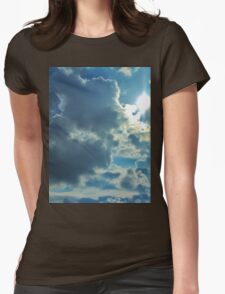 Sun Peeping Out Womens Fitted T-Shirt