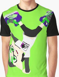 Splatoon - Inkling boy Green Graphic T-Shirt