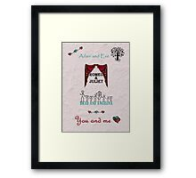 Valentine's Day - Couples - You and me Framed Print