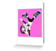 Splatoon - Inkling boy Pink Greeting Card