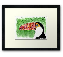 The toucan Framed Print