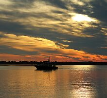 Sunset Over The Water by Cynthia48