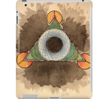 Abstract watercolor triangle circle design iPad Case/Skin