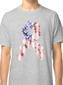 Red, White and Blue Flower Ribbon Classic T-Shirt