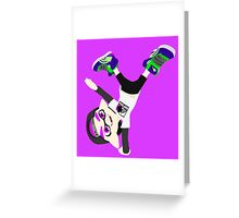Splatoon - Inkling boy Purple Greeting Card