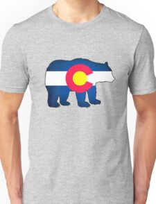 Colorado flag grunge bear Unisex T-Shirt